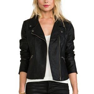 Guess Faux Fur Lined Jacket Black M Coat Women's